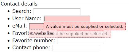 Internet Explorer Required attribute recognized