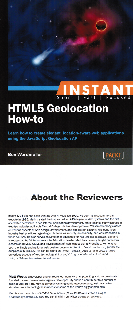 HTML5 Geolocation book