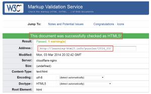 PAssed HTML5 validation